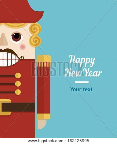creative and funny illustration, Christmas nutcracker character