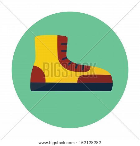 boot outline icon, flat icon for web design, mobile and identity