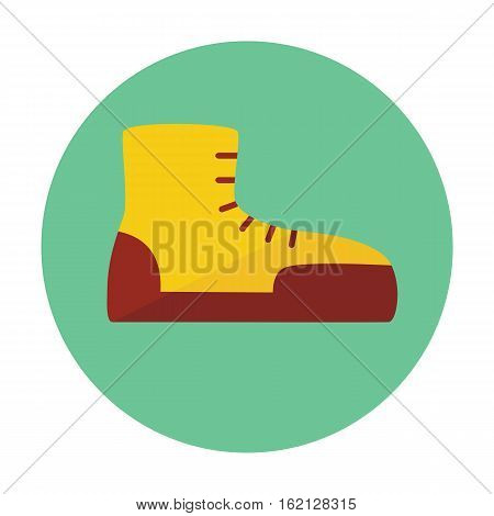 Boot outline icon, flat icon of a shoe