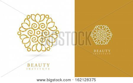 LOTUS FLOWER, GOLDEN BEAUTY LOGO / ICON