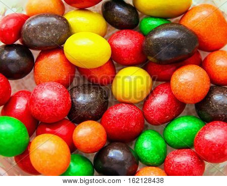 Bright Candy Colorful Jelly Beans, Sweet Colorful Candies In The Background