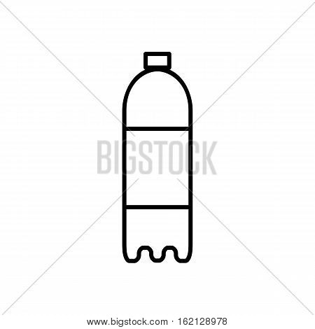 Bottle outline digital icon. Thin flat line icon of a bottle with water. Single symbol for web design or mobile app. Vector sing for design logo, visit card, corporate identity. Isolated on white background illustration.