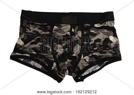 khaki men's underwear isolated on a white background