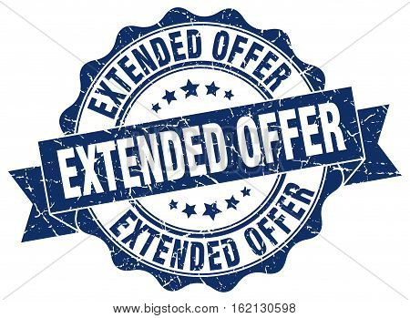 extended offer. stamp. sign. seal. round. retro. ribbon