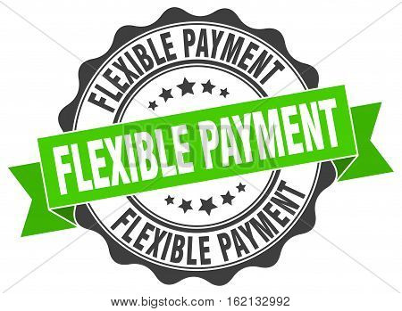 flexible payment. stamp. sign. seal. round. retro. ribbon