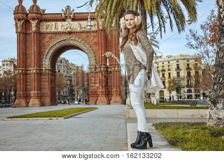 Fashion-monger In Barcelona, Spain Looking Into Distance