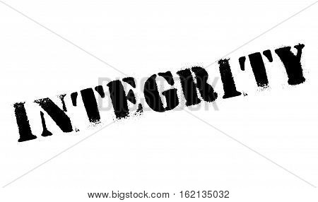 Integrity stamp. Grunge design with dust scratches. Effects can be easily removed for a clean, crisp look. Color is easily changed.