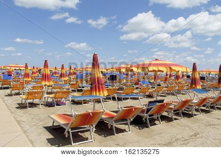 Gatteo beach on the Adriatic sea in Italy