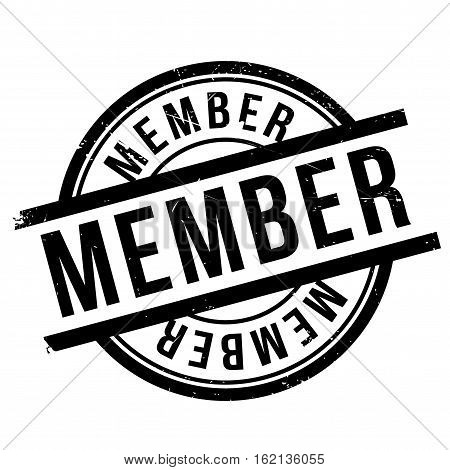 Member stamp. Grunge design with dust scratches. Effects can be easily removed for a clean, crisp look. Color is easily changed.