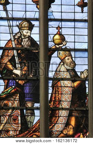 Stained Glass - Emperor Charles V
