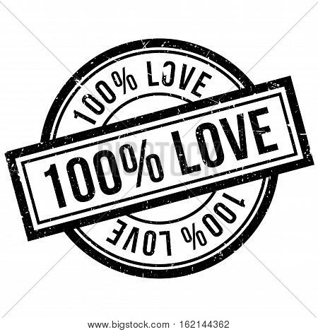 100 percent love rubber stamp. Grunge design with dust scratches. Effects can be easily removed for a clean, crisp look. Color is easily changed.