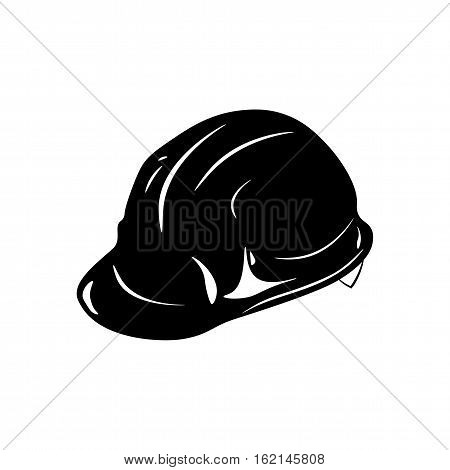 Safety constructions helmet. hard hat. Vector illustration isolated on white background
