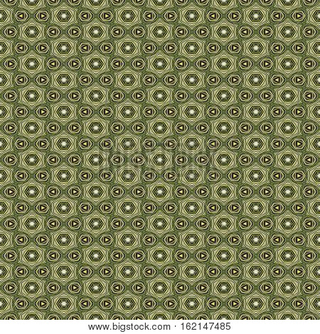 Green repeat seamless ornate dotty pattern design wallpaper