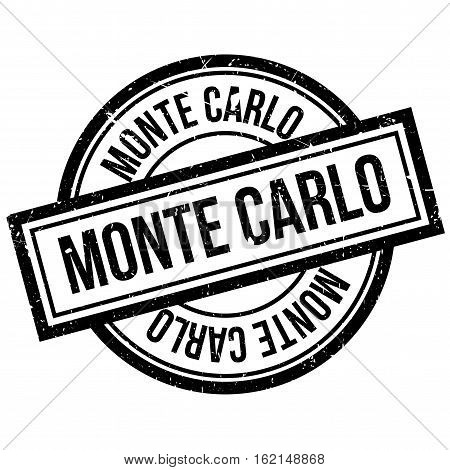 Monte Carlo rubber stamp. Grunge design with dust scratches. Effects can be easily removed for a clean, crisp look. Color is easily changed.