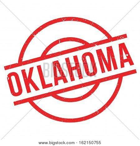 Oklahoma rubber stamp. Grunge design with dust scratches. Effects can be easily removed for a clean, crisp look. Color is easily changed.