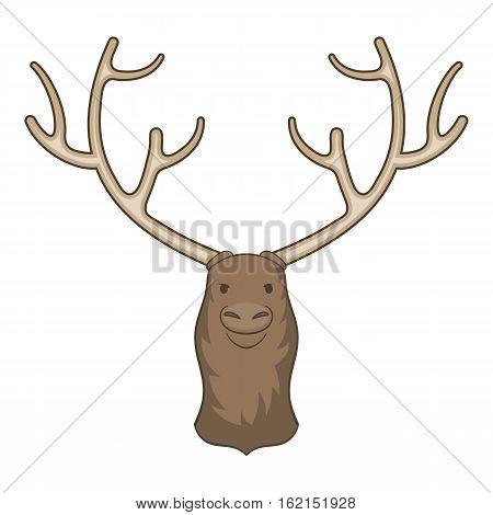 Moose head icon. Cartoon illustration of moose head vector icon for web