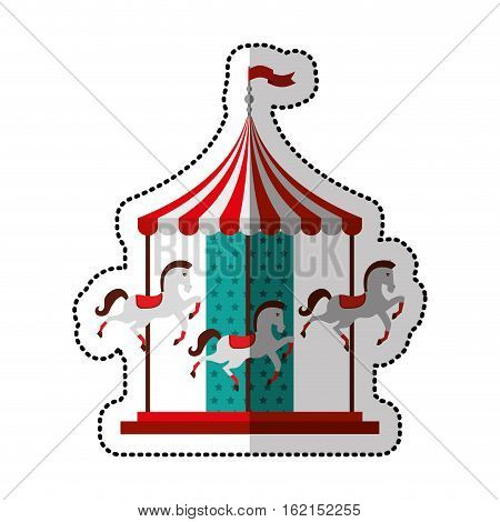 carrousel cute isolated icon vector illustration design