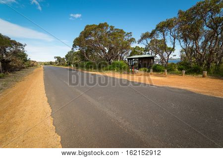 One of the endless Asphalt road in Walpole Australia .