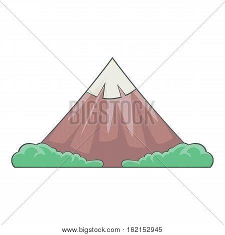 The sacred mountain of Fuji, Japan icon. Cartoon illustration of the sacred mountain of Fuji, Japan vector icon for web