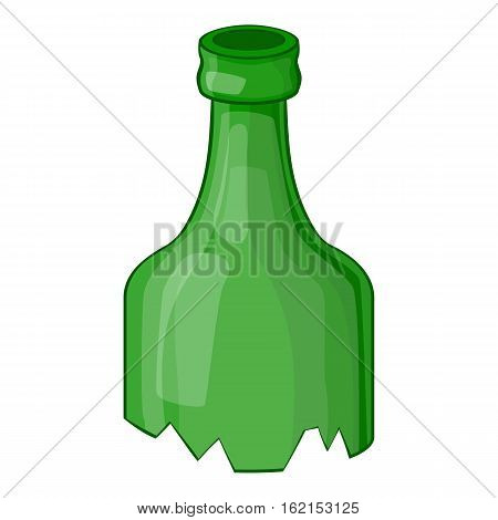 Broken bottle icon. Cartoon illustration of broken bottle vector icon for web
