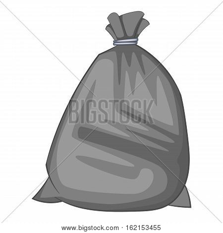Garbage bag icon. Cartoon illustration of garbage bag vector icon for web