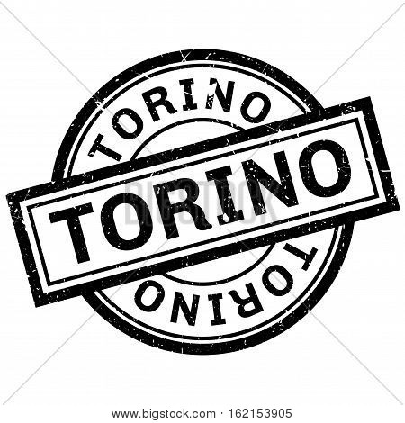 Torino rubber stamp. Grunge design with dust scratches. Effects can be easily removed for a clean, crisp look. Color is easily changed.