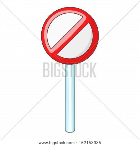 Prohibition sign icon. Cartoon illustration of prohibition sign vector icon for web
