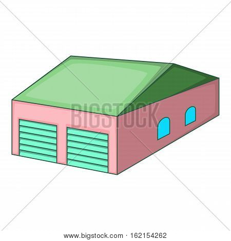 Garage with two gates icon. Cartoon illustration of garage with two gates vector icon for web
