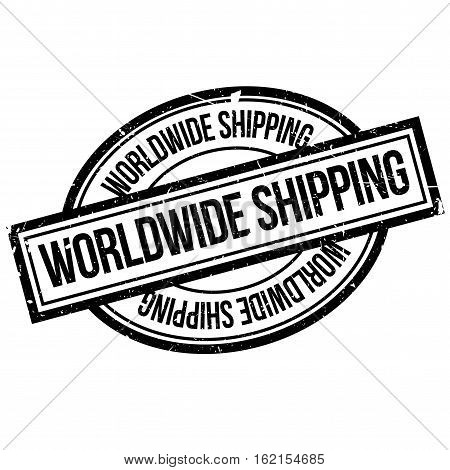 Worldwide shipping rubber stamp. Grunge design with dust scratches. Effects can be easily removed for a clean, crisp look. Color is easily changed.