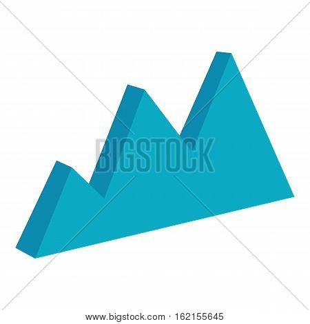 Business chart icon. Cartoon illustration of business chart vector icon for web