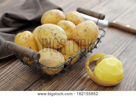 Raw Potato Food