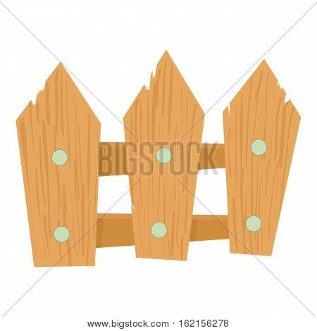 Wooden fence icon. Cartoon illustration of wooden fence vector icon for web design