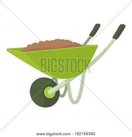 Wheelbarrow icon. Cartoon illustration of wheelbarrow vector icon for web design