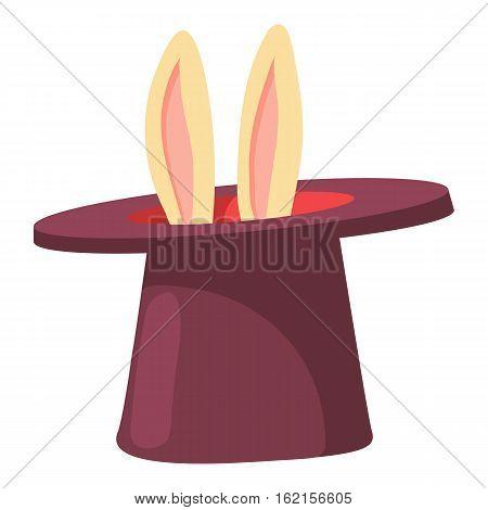 Magic hat icon. Cartoon illustration of magic hat vector icon for web design