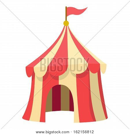 Circus tent icon. Cartoon illustration of circus tent vector icon for web design