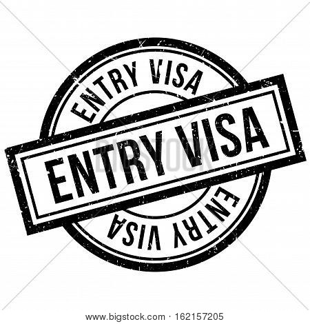 Entry Visa rubber stamp. Grunge design with dust scratches. Effects can be easily removed for a clean, crisp look. Color is easily changed.