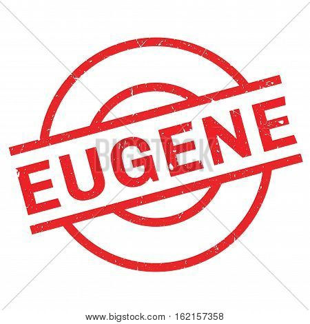 Eugene rubber stamp. Grunge design with dust scratches. Effects can be easily removed for a clean, crisp look. Color is easily changed.