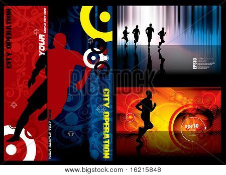 Sport background set