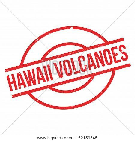 Hawaii Volcanoes rubber stamp. Grunge design with dust scratches. Effects can be easily removed for a clean, crisp look. Color is easily changed.