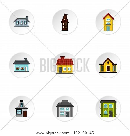 Dwelling icons set. Flat illustration of 9 dwelling vector icons for web