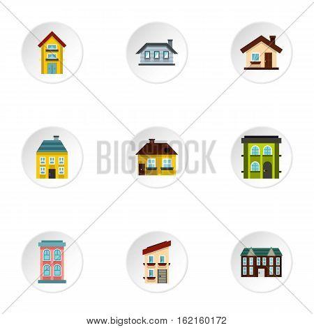 Habitation icons set. Flat illustration of 9 habitation vector icons for web