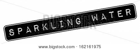 Sparkling Water rubber stamp. Grunge design with dust scratches. Effects can be easily removed for a clean, crisp look. Color is easily changed.