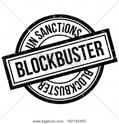 Blockbuster rubber stamp. Grunge design with dust scratches. Effects can be easily removed for a clean, crisp look. Color is easily changed.