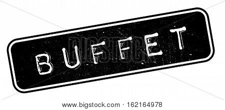 Buffet rubber stamp. Grunge design with dust scratches. Effects can be easily removed for a clean, crisp look. Color is easily changed.