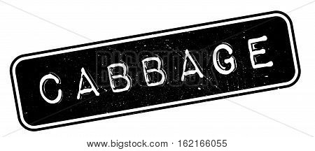 Cabbage rubber stamp. Grunge design with dust scratches. Effects can be easily removed for a clean, crisp look. Color is easily changed.