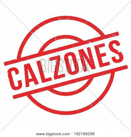 Calzones rubber stamp. Grunge design with dust scratches. Effects can be easily removed for a clean, crisp look. Color is easily changed.