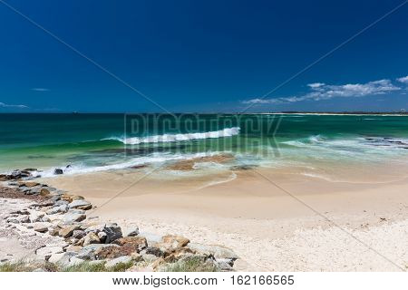 Hot sunny day at Kings Beach Calundra, Queensland, Australia