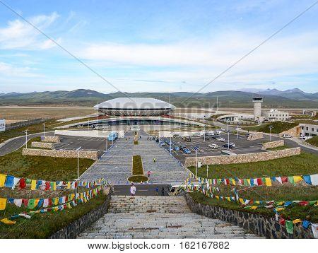 Daocheng Yading Airport In Sichuan, China