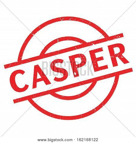 Casper rubber stamp. Grunge design with dust scratches. Effects can be easily removed for a clean, crisp look. Color is easily changed.