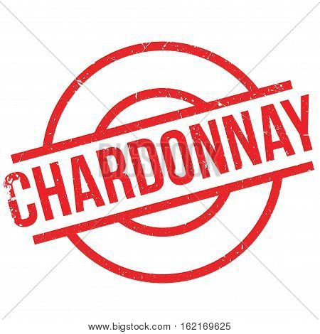 Chardonnay rubber stamp. Grunge design with dust scratches. Effects can be easily removed for a clean, crisp look. Color is easily changed.